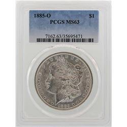 1885-O $1 Morgan Silver Dollar Coin PCGS MS63