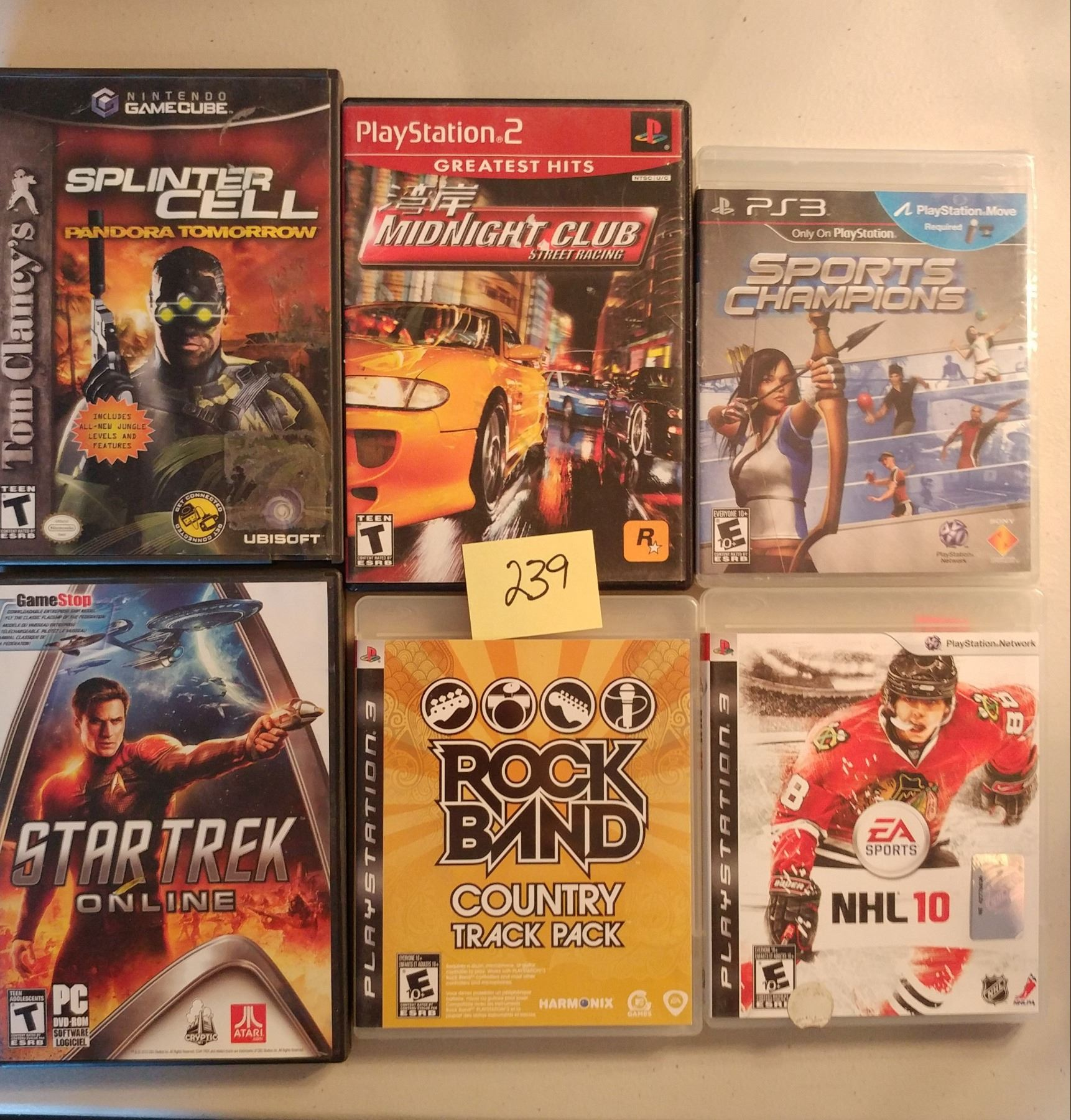 Lot of Mix Console Games