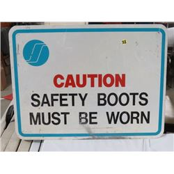 SIGN - CAUTION SAFETY BOOTS MUST BE WORN