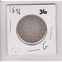 1896 NFLD 50 CENT PIECE