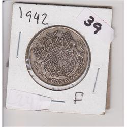 1942 CNDN 50 CENT PIECE