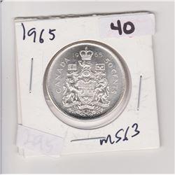 1965 CNDN 50 CENT PIECE