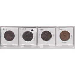 4 BRITISH LRG PENNIES 1896, 97, 1908, 60