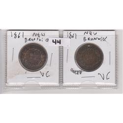 2 1861 CNDN PENNIES, NEW BRUNSWICK