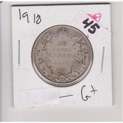 1918 CNDN 50 CENT PIECE