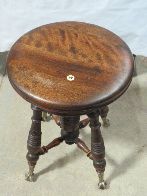 Strange Vintage Piano Stool Swivel Seat Claw Feet Caraccident5 Cool Chair Designs And Ideas Caraccident5Info