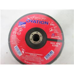New pack of 5 Sait Ovation 7 inch Flap Disks / 80grit