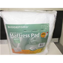 New Biddford Automatic Heated QUEEN Mattress Pad/ 2 controllers