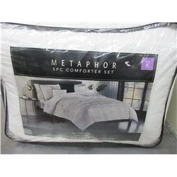 New KING 5 piece Comforter Set cotton rich easy care