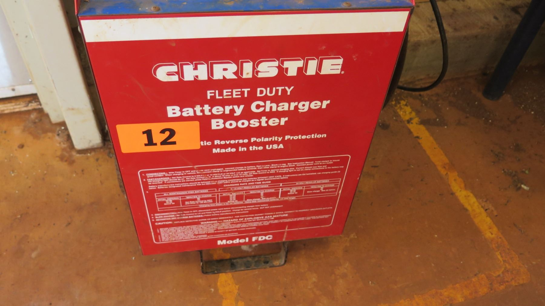 Christie Fleet Duty Fdc Battery Charger Booster Oahu Auctions Reverse Polarity Protection Image 3