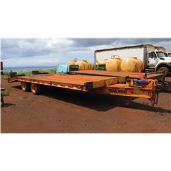 "Trail King S& L 20 Ton Trailer – Model TK 40LP, Lic. Plate 400 KXV, Approx. 8'1"" x 18'10"""