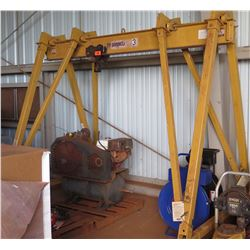 Spanco Portable Crane w/ 3-Ton Hoist, Part