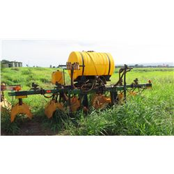 Hooded Sprayer, 6-Hoods, Yellow Tank