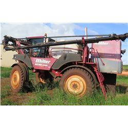 Miller 4240 Nitro Sprayer w/Viper System, 4929 Hrs, Cracked Frame, Parts/Repair, 6 Injection Boxes