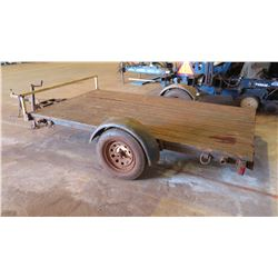 2 Wheel Equipment Trailer, Wood Deck, Lic. Plate 041 KXX