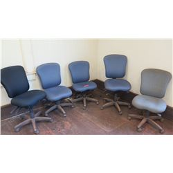 Qty 5 Rolling Office Chairs  (other location, removal by appointment)
