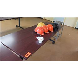 HON Wooden Rolling Folding Table  (other location, removal by appointment)