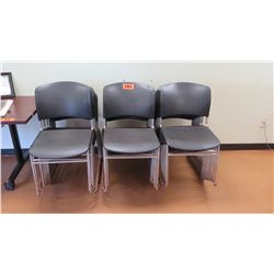 Approx. Qty 24 Stackable Plastic Chairs w/ Metal Frame  (other location, removal by appointment)