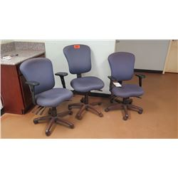 Qty 3 Rolling Office Chairs  (other location, removal by appointment)