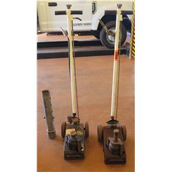 Qty 2 Air Hyraulic Axel Jacks, 22-Ton
