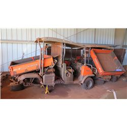 Qty 3 Non-Operational Kubota UTVs (1 model RTV1100, 2 are model RTV1140CPX - For Parts Only