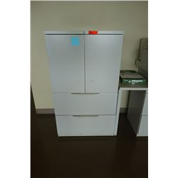 Metal Storage Cabinet, 2-Door, 2-Drawer