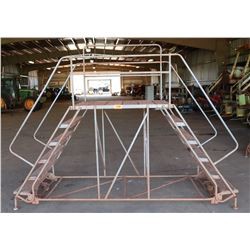 Warehouse Rolling Ladder - Double Sided