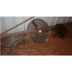 Qty 3 Warehouse Fans (No Stands)