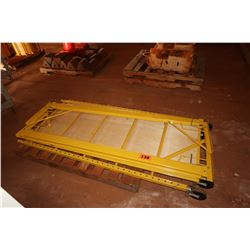 Contents of Pallet: Yellow Scaffolding