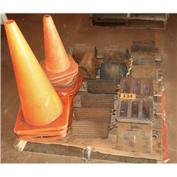 Contents of Pallet: Wheel Chalks, Orange Safety Cones