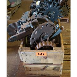 Contents of Pallet: Farm Equipment Attachments