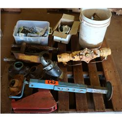 Contents of Pallet: Valves, Jack Stand, etc.