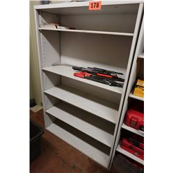 Metal Shelving Unit (contents of shelves not included)