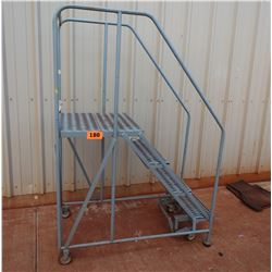 Small Rolling Warehouse Ladder
