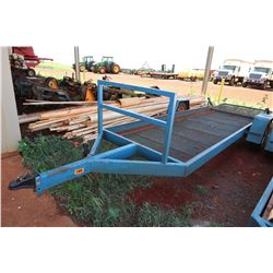 Long Blue Utility Trailer