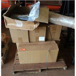 Boxes of Glassine Brown Tin-Tie, 5 x 3 x 12, Half Gal. (400 per box), Misc. Machine Parts