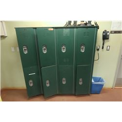 8-Compartment Locker System