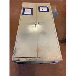 2-Door Metal Storage Cabinet, Aprrox. 6' Tall, 3' Wide