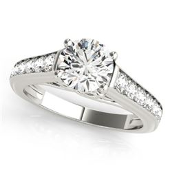 1.25 CTW Certified VS/SI Diamond Solitaire Ring 18K White Gold - REF-218Y8K - 27504