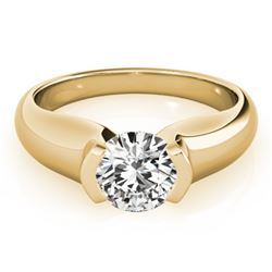1 CTW Certified VS/SI Diamond Solitaire Ring 18K Yellow Gold - REF-331X4T - 27806