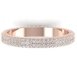 1.75 CTW Certified VS/SI Diamond Micro Eternity Ring 14K Rose Gold - REF-130T9M - 30268