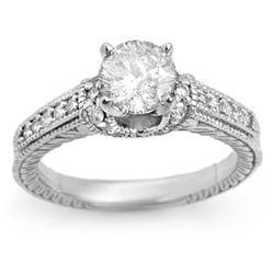 1.50 CTW Certified VS/SI Diamond Ring 18K White Gold - REF-393Y3K - 11269