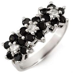1.25 CTW VS Certified Black & White Diamond Ring 10K White Gold - REF-51X5T - 13767