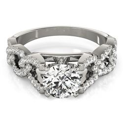 1.5 CTW Certified VS/SI Diamond Solitaire Ring 18K White Gold - REF-397M8H - 27837