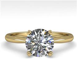 1.54 CTW VS/SI Diamond Engagement Designer Ring 14K Yellow Gold - REF-528W2F - 30608
