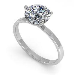 1.51 CTW Certified VS/SI Diamond Engagement Ring 14K White Gold - REF-514F8N - 30580