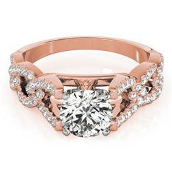 1.5 CTW Certified VS/SI Diamond Solitaire Ring 18K Rose Gold - REF-397K8W - 27838
