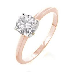 2.0 CTW Certified VS/SI Diamond Solitaire Ring 18K 2-Tone Gold - REF-840N3Y - 13541