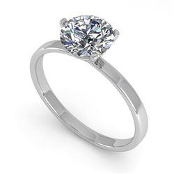 1.01 CTW Certified VS/SI Diamond Engagement Ring 18K White Gold - REF-298W5F - 32229