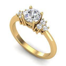 1 CTW VS/SI Diamond Solitaire Ring 18K Yellow Gold - REF-227X3T - 36937